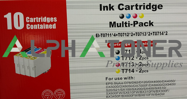 INK EPSON T0711*4-T0712*2-T0713*2-T0714*2 MULTIPACK (T0715)